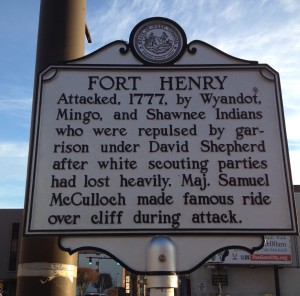 Fort Henry 1777 marker
