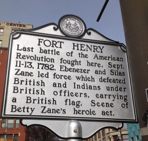 Fort Henry 1782 marker