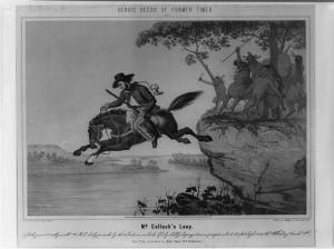 Major Samuel McColloch's leap, First Siege of Fort Henry, 1777