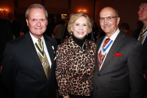 Pictured at the Fort Henry Chapter organizational dinner are chapter president Jay Frey, First Lady Billie S. Brock and NSSAR President General Lindsay C. Brock, October 23, 2014, Wilson Lodge Oglebay Resort, Wheeling.