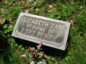 Betty Zane grave, Walnut Grove Cemetery, Martins Ferry, OH