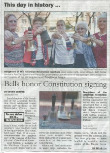 Compatriot David G. McIntire represented the chapter at Constitution Day observance in Morgantown, WV, September 17, 2015