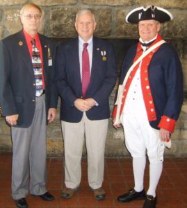 Pictured at the Holiday Luncheon are (l to r) Compatriot Gary W. Timmons, Bronze Citizenship Awardee David M. Weaver and chapter president Jay Frey. Timmons nominated Wheeling businessman and communit volunteer Dave Weaver for the award.