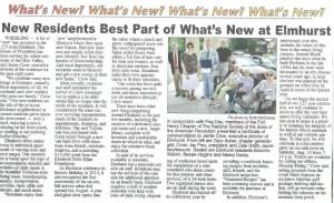 Elmhurst Flag Commendation coverage in Wheeling News-Register supplement, July 30, 2015