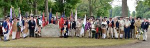 Participants at the Fort Laurens monument
