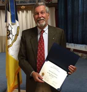 Compatriot John Edward Osborne is inducted into the chapter at historic Monument Place, September 19, 2015