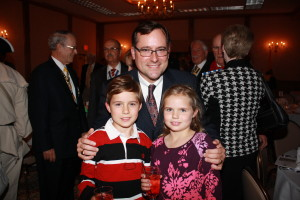 Charter member David H. McKinley with Junior Member Davey McKinley and Annie McKinley