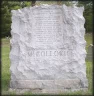Samuel McColloch monument, cemetery, Short Creek United Methodist Church