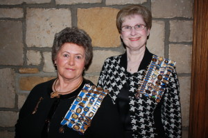 Guests Joan M. McClelland, regent, Wheeling Chapter NSDAR; Cheryl Brown, Pack Horse Chapter, NSDAR and 2nd vice regent, WVDAR