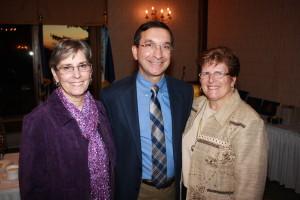Wheeling DAR Chapter vice regent Jeanne Finstein, Charter member Dr. Dan Joseph and Debbie Joseph