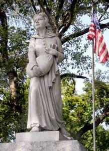 Betty Zane statue, Martins Ferry, OH