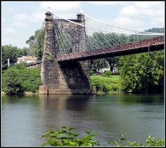 Wheeling Suspension Bridge, built 1849